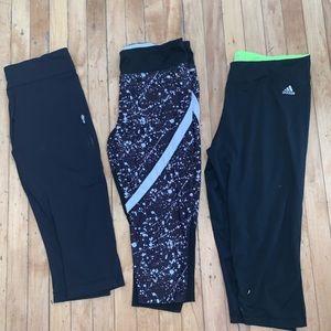 Lululemon/Adidas Yoga Capri Bundle